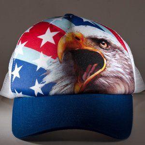 American Flag Bald Eagle Snapback Hat